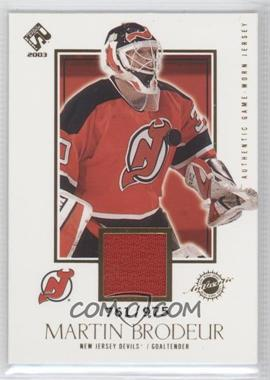 2002-03 Pacific Private Stock Reserve - [Base] #129 - Martin Brodeur /975