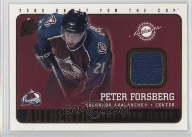 2002-03 Pacific Quest for the Cup - Authentic Game-Worn Jerseys #5 - Peter Forsberg