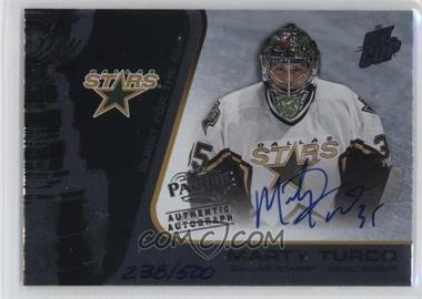 2002-03 Pacific Quest for the Cup - [Base] #30.2 - Marty Turco (Autographed) /500
