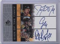 Joe Thornton, Sergei Samsonov, Ray Bourque #/25