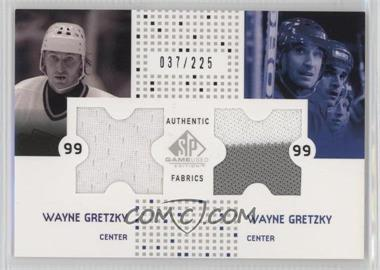 2002-03 SP Game Used - Authentic Fabrics Combos #CF-WG - Wayne Gretzky /225