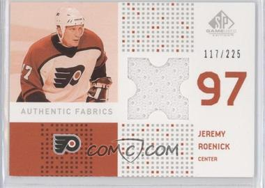 2002-03 SP Game Used - Authentic Fabrics #AF-RO - Jeremy Roenick /225