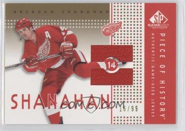 2002-03 SP Game Used - Piece of History - Gold #PH-SH - Brendan Shanahan /99
