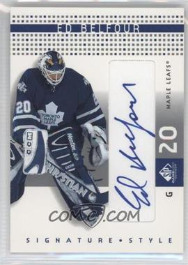 2002-03 SP Game Used - Signature Style #SS-EB - Ed Belfour