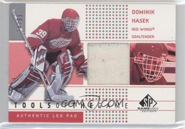 2002-03 SP Game Used - Tools of the Game #TG-DH - Dominik Hasek /99