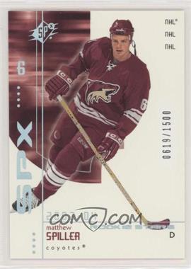 2002-03 SPx - Rookie Redemptions #R208 - Matthew Spiller /1500