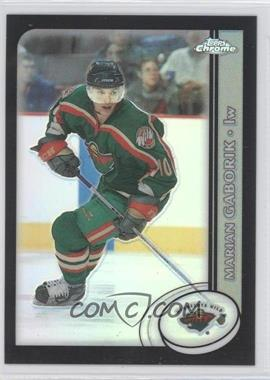2002-03 Topps Chrome - [Base] - Black Refractor #26 - Marian Gaborik /100