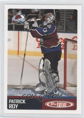2002-03 Topps Total - Team Checklist #TTC7 - Patrick Roy