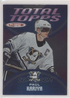 2002-03 Topps Total - Total Topps #TT13 - Paul Kariya