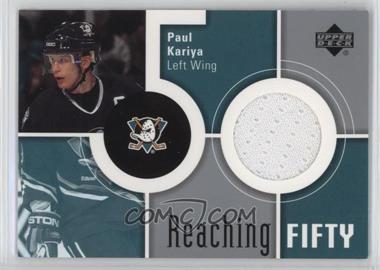 2002-03 Upper Deck - Reaching 50 #50-PK - Paul Kariya