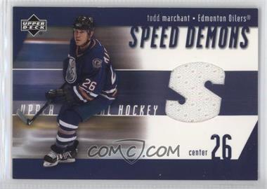 2002-03 Upper Deck - Speed Demons #SD-TM - Todd Marchant