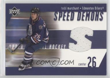 2002-03 Upper Deck - Speed Demons #SD-TM - Todd Marchant