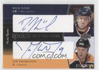 Rick Nash, Joe Thornton #/199