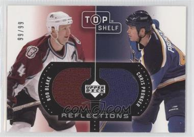 2002-03 Upper Deck Top Shelf - Reflections Dual Jerseys #R-BP - Rob Blake, Chris Pronger /99