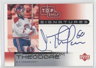 2002-03 Upper Deck Top Shelf - Signatures #TH - Jose Theodore