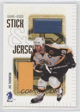 2003-04 In the Game Be A Player Memorabilia - Game-Used Stick & Jersey #SJ-1 - Joe Thornton