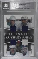Mike Bossy, Bryan Trottier, Denis Potvin, Billy Smith [BGS Encased] #/20