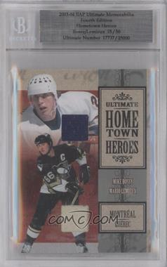 2003-04 In the Game Ultimate Memorabilia 4th Edition - Hometown Heroes #MBML - Mike Bossy, Mario Lemieux /50 [BGSAuthentic]