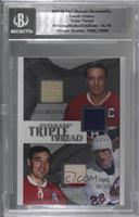 Jean Beliveau, Mike Bossy, Frank Mahovlich [BGS Encased] #/40