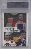 Doug Harvey, Borje Salming, Ray Bourque [Uncirculated] #/40