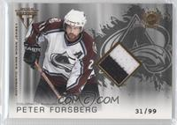 Authentic Game-Worn Jersey - Peter Forsberg /99
