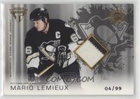 Authentic Game-Worn Jersey - Mario Lemieux #/99