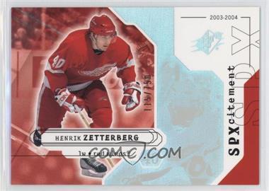 2003-04 SPx - [Base] #146 - Henrik Zetterberg /750