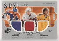 Wayne Gretzky, Jason Spezza, Joe Thornton [EX to NM] #/99
