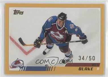 2003-04 Topps - [Base] - Gold #201 - Rob Blake /50