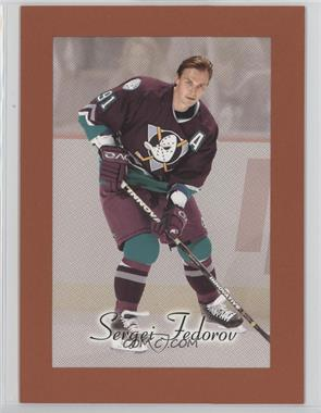 2003-04 Upper Deck Bee Hive - Oversized Box Topper Cards #2 - Sergei Fedorov
