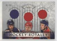 Chris Pronger, Jay Bouwmeester, Nicklas Lidstrom [EX to NM] #/99