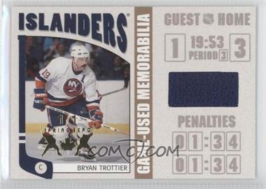 2004-05 In the Game Franchises US East Edition - Game-Used Memorabilia - Gold Spring Expo #ESM-17 - Bryan Trottier /1
