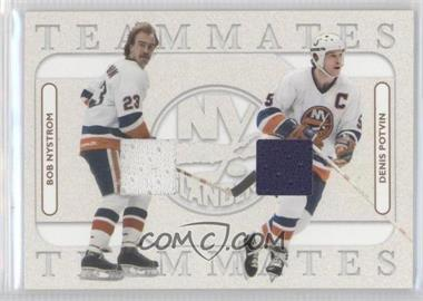 2004-05 In the Game Franchises US East Edition - Teammates Materials - Gold #ETM-07 - Bob Nystrom, Denis Potvin /20