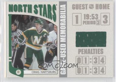 2004-05 In the Game Franchises US West Edition - Game-Used Memorabilia - Silver #WSM-18 - Craig Hartsburg /70