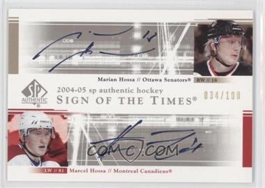 2004-05 SP Authentic - Sign of the Times Dual #DS-HH - Marian Hossa, Marcel Hossa /100