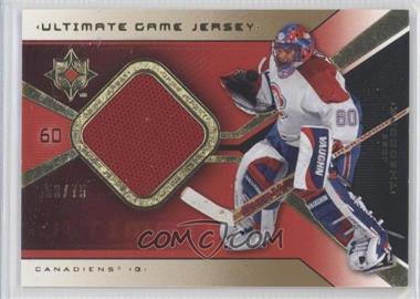 2004-05 Ultimate Collection - Ultimate Game Jersey - Limited #UGJ-JO - Jose Theodore /75