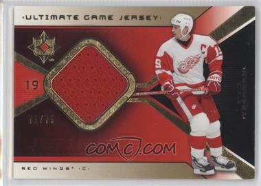 2004-05 Ultimate Collection - Ultimate Game Jersey - Limited #UGJ-SY - Steve Yzerman /75