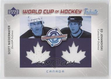2004-05 Upper Deck - World Cup of Hockey Tribute #WC-SN/EJ - Ed Jovanovski, Scott Niedermayer