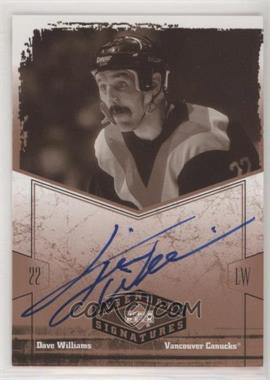 2004-05 Upper Deck Legendary Signatures - Signatures #TW - Tiger Williams