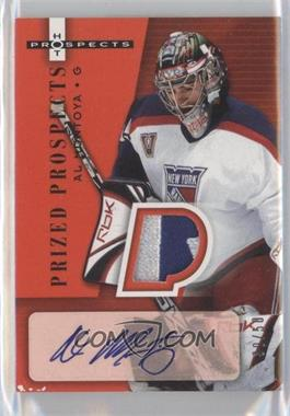 2005-06 Fleer Hot Prospects - [Base] - Red Hot #253 - Autographed Prized Prospect Patches - Al Montoya /50