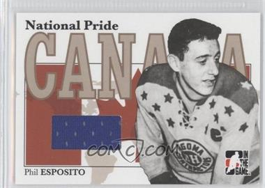 2005-06 In the Game Heroes and Prospects - National Pride #NPR-23 - Phil Esposito