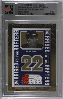 2005-06 In the Game Ultimate Memorabilia 6th Edition - Raised to the Rafters Jersey - Gold #MIBO - Mike Bossy /1 [Uncirculated]