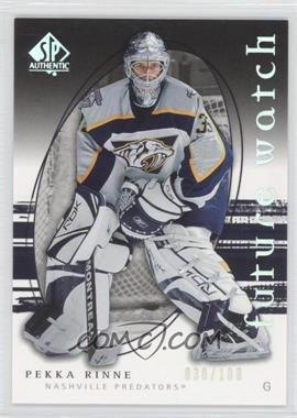 2005-06 SP Authentic - [Base] - Limited #271 - Pekka Rinne /100