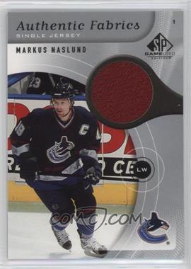 2005-06 SP Game Used Edition - Authentic Fabrics #AF-MN - Markus Naslund