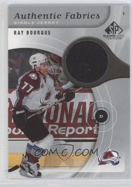 2005-06 SP Game Used Edition - Authentic Fabrics #AF-RB - Ray Bourque