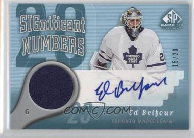 2005-06 SP Game Used Edition - Significant Numbers - [Autographed] #SN-EB - Ed Belfour /20