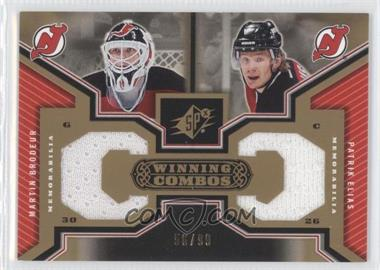 2005-06 SPx - Winning Combos - Gold #WC-BE - Martin Brodeur, Patrik Elias /99