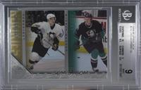 Young Guns Checklist - Corey Perry, Sidney Crosby [BGS 9 MINT]