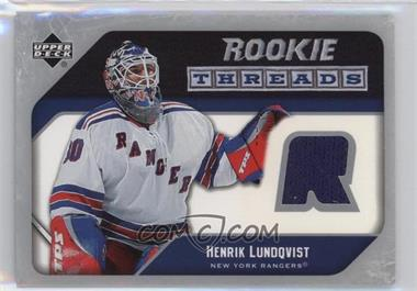 2005 06 Upper Deck Rookie Threads Rt Hl Henrik Lundqvist