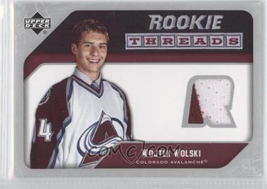 2005-06 Upper Deck - Rookie Threads #RT-WW - Wojtek Wolski